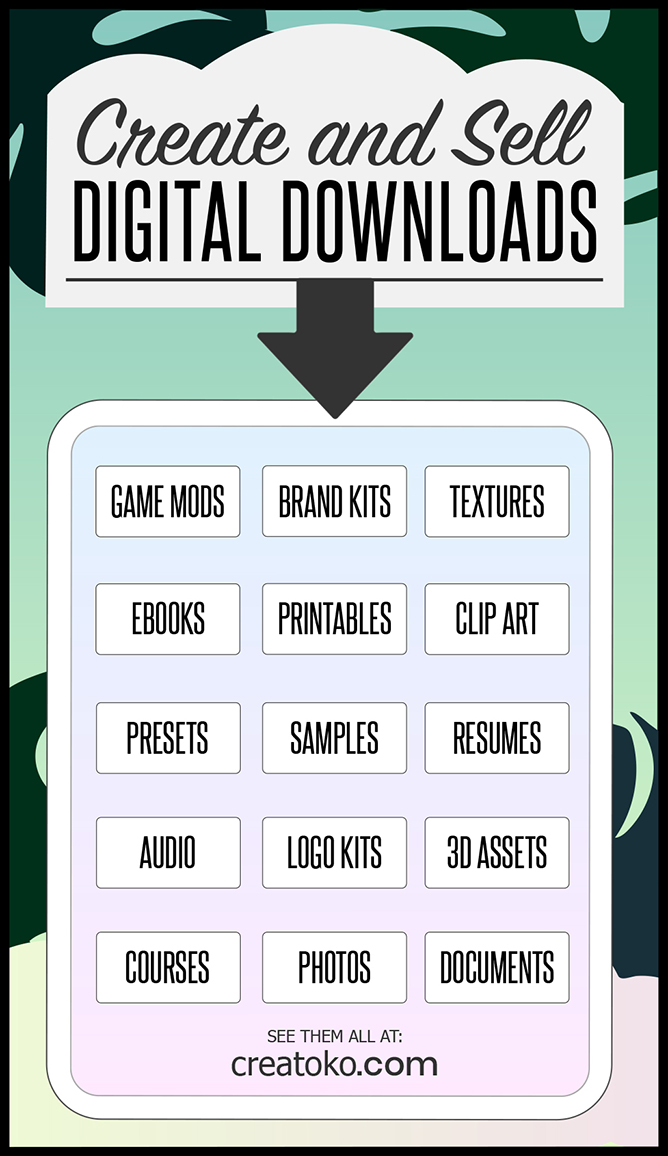 how to sell digital downloads infographic
