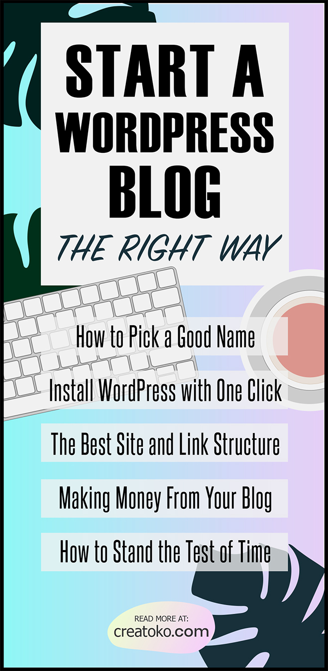 start a blog using wordpress on your own domain name infographic