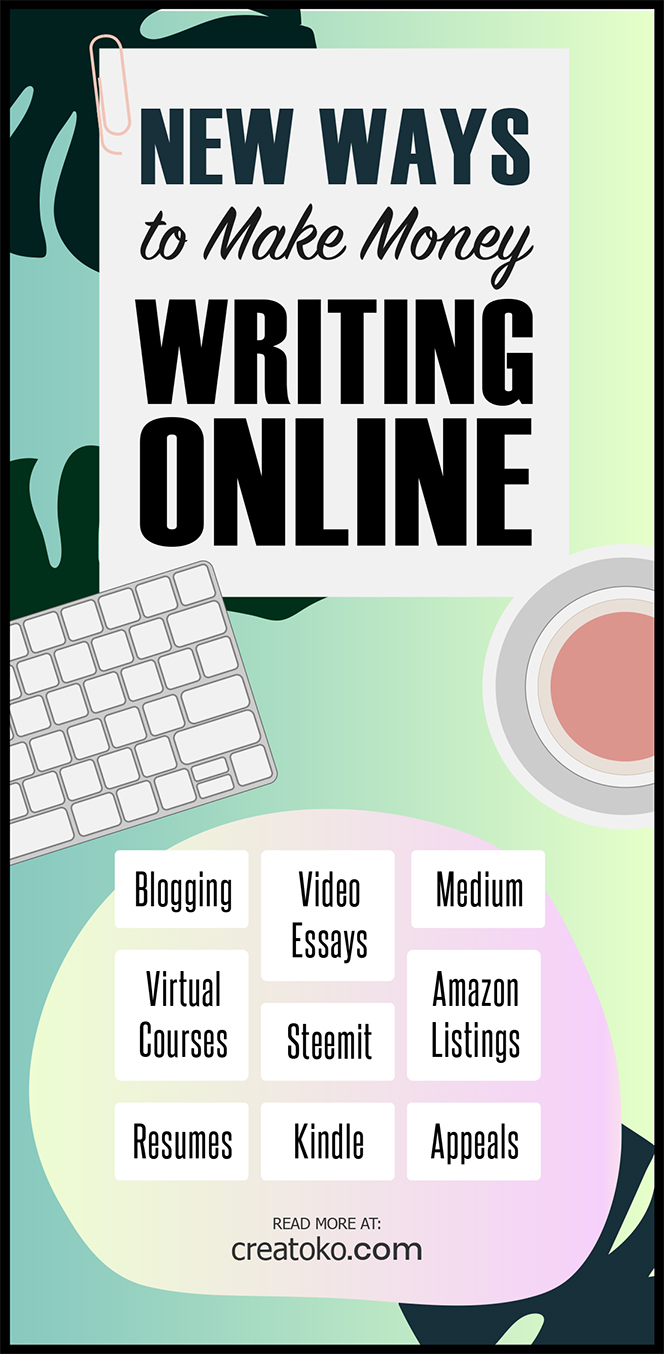 infographic about making money writing online