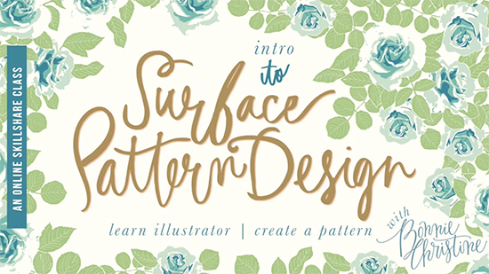 Surface Pattern design class on Skillshare Cover Image