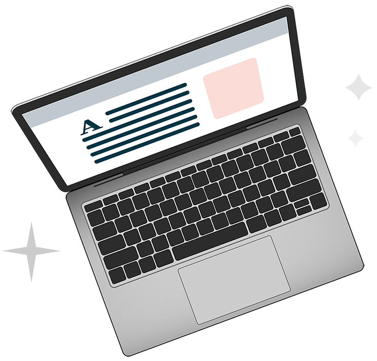 Laptop with Stars Creatoko Site Image