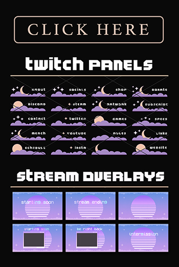 Twitch Overlays and Panels Shop Ad